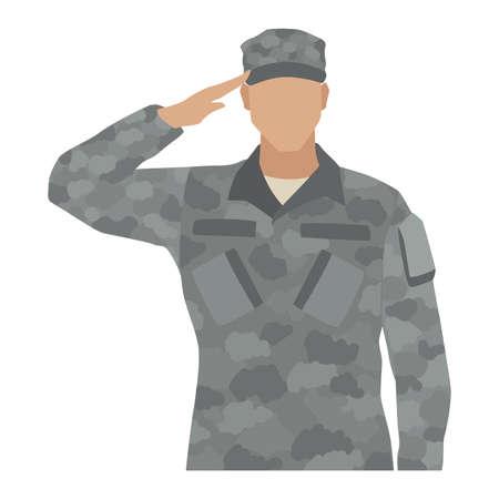 Isolated US army man Soldier Illusztráció