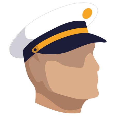 Isolated face of a Navy man of USA