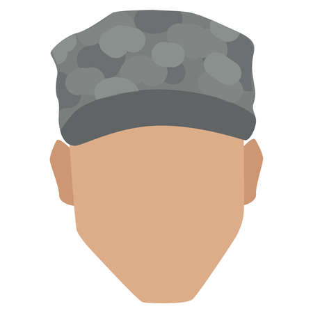 Isolated face of a US army man