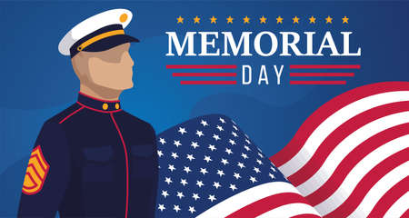 Navy man of USA Memorial day