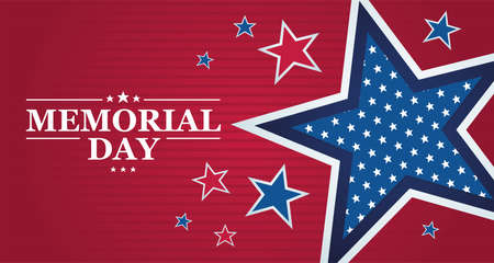 Memorial day poster with stars