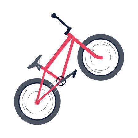 Isolated bmx bike Adventure sport