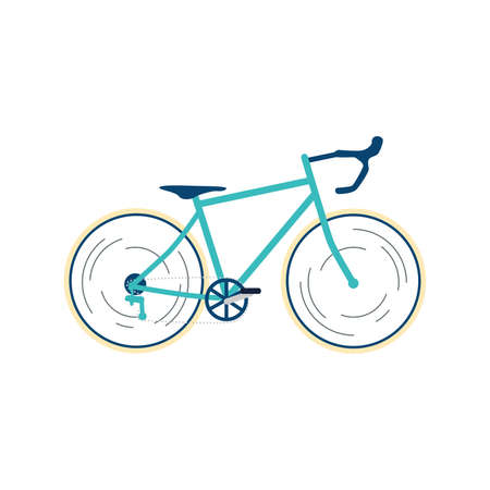 Isolated road bike Healthy lifestyle