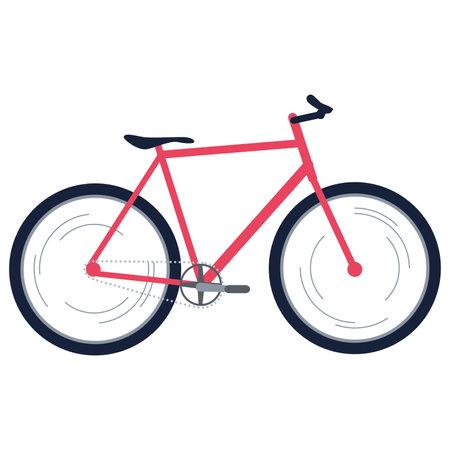 Isolated fixie bike Urban tranport