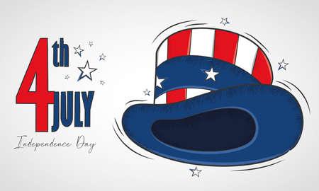 Traditional american hat USA Independence day Illusztráció