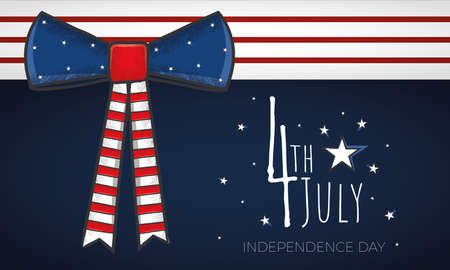 USA Independence day poster with a bowtie