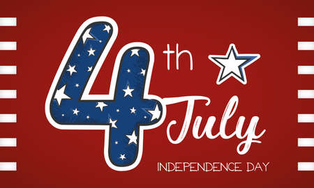 USA Independence day Number 4 with stars