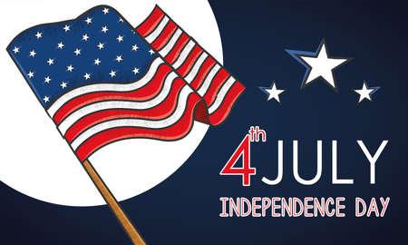 Grunge flag of United States USA Independence day