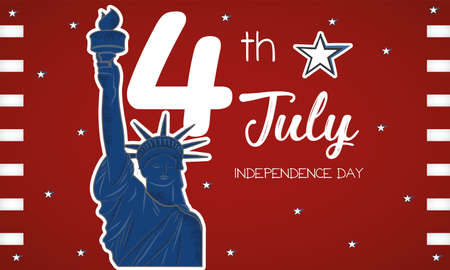 Statue of Liberty USA Independence day poster