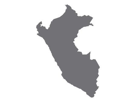 Gray Map of Peru