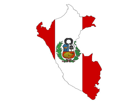 Peru Map and Flag Combined