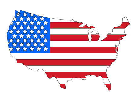 USA Map and Flag Combined