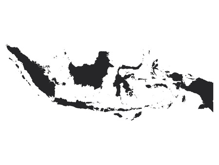 Black Map of Indonesia Stock Illustratie