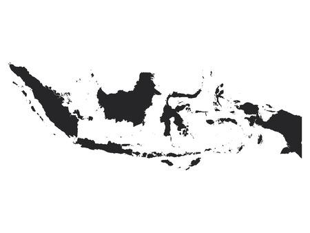 Black Map of Indonesia Illustration