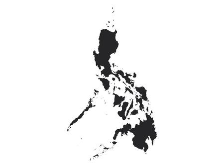 Black Map of Philippines Illustration