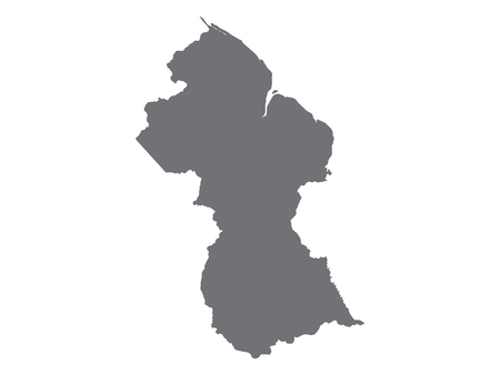 Gray Map of Guyana
