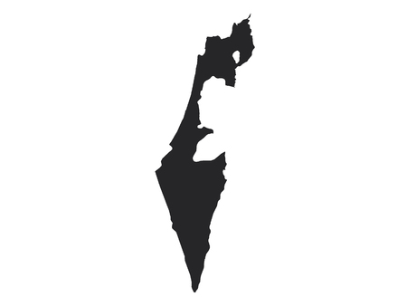 Black Map of Israel