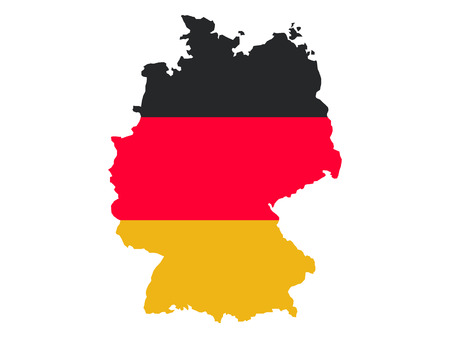 Germany Map and Flag Combined