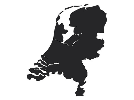 Black Map of Netherlands