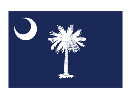 USA state flag of South Carolina