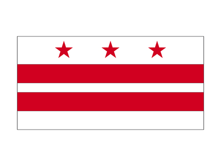 USA state flag of Washington DC