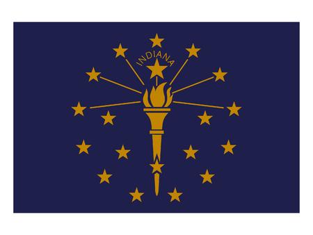 USA state flag of Indiana Illustration