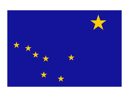 USA state flag of Alaska Illustration
