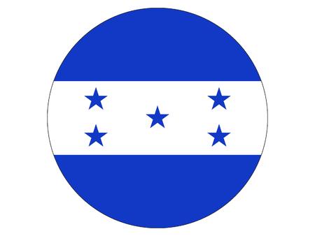 Round flag of Honduras
