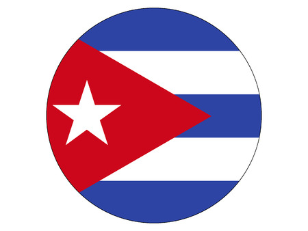 Round flag of Cuba Illustration