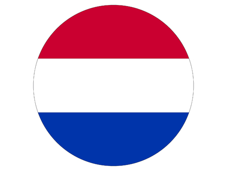 Vector illustration of the Round Flag of the Netherlands Stock Illustratie
