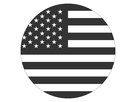 Vector illustration of a Monochrome USA Flag Ilustrace
