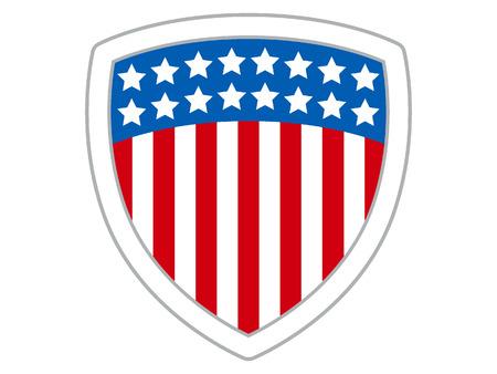 Vector illustration of a USA Celebration Shield Stock Illustratie