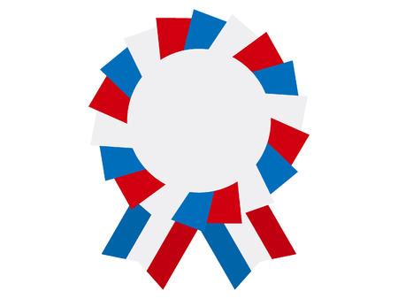 Vector illustration of the USA Award Ribbon