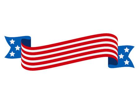 Vector illustration of a USA Celebration Banner