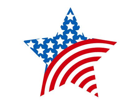 Vector illustration of a USA Celebration Star