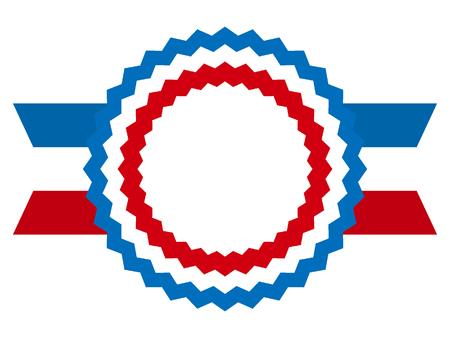 Vector illustration of a USA Celebration Ribbon
