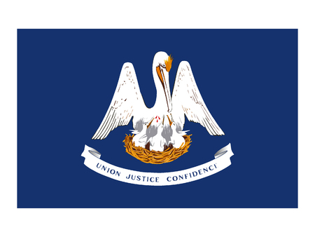 Flag of the State of Louisiana Vector Illustration
