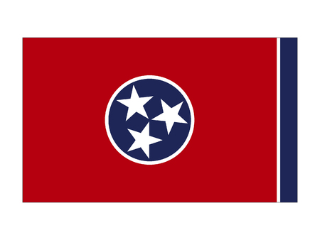 Flag of the State of Tennessee Illustration