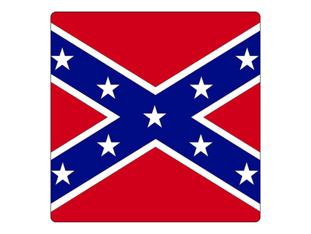 Vector illustration of the Square Confederate Flag