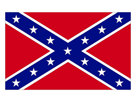 Vector illustration of the Confederate Flag