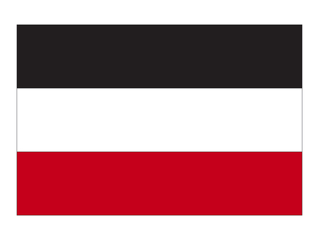 Vector illustration of the German Empire Flag