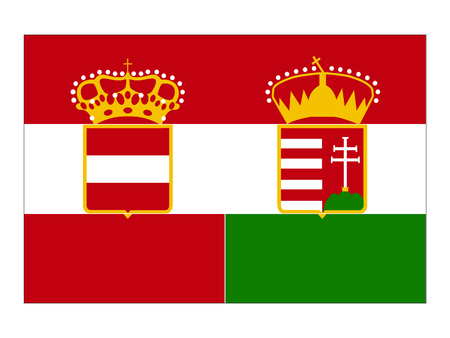 Vector illustration of the Austro-Hungary Empire Flag