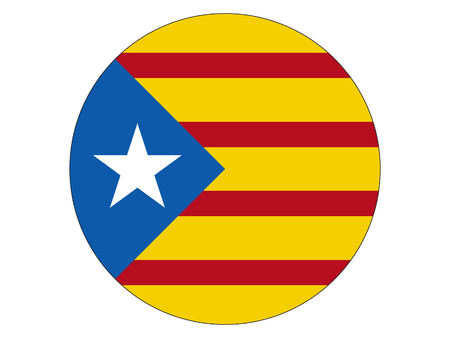 Vector illustration of the Round Flag of Catalonia Illustration