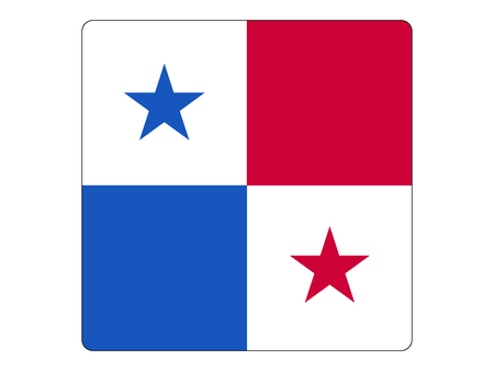 Vector illustration of the Square Flag of Panama  イラスト・ベクター素材