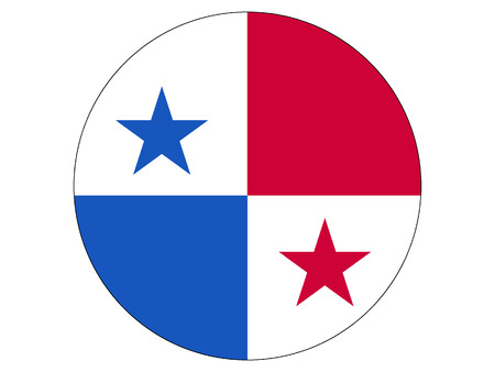 Vector illustration of the Round Flag of Panama
