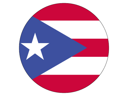 Vector illustration of the Round Flag of Puerto Rico Illustration