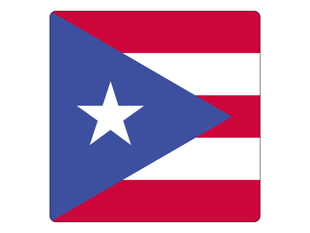 Vector illustration of the Square Flag of Puerto Rico