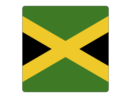 Vector illustration of the Square Flag of Jamaica Illustration