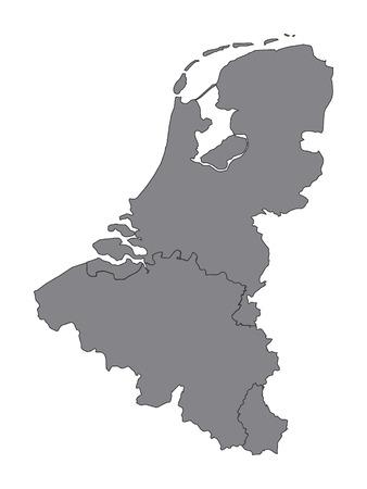 Graue Karte von Benelux