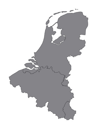Gray Map of Benelux